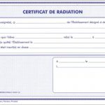 certificat de radiation